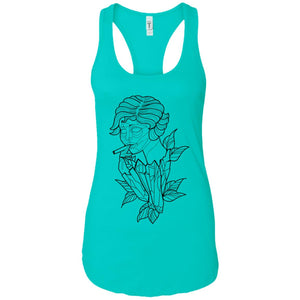 Lady smoke - Tattoos Art - Women's Racerback Tank Top