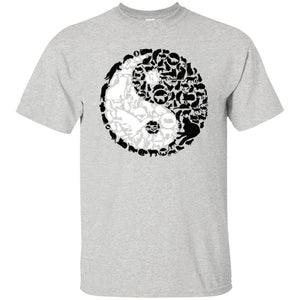 99 - RTP - Caffein Art - Yinyang Cats - Animal Art - Adult Unisex T-Shirt