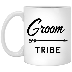 Groom Tribe - Wedding Quotes - 11 oz. White Mug - 2309B