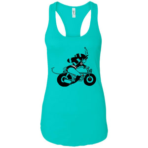 Ride girl - Tattoos Art - Women's Racerback Tank Top