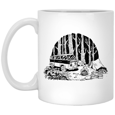 Camping - Tattoos Art - 11 oz. White Mug - 393