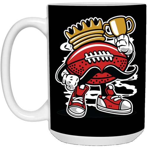 Football King - Sports Art - 15 oz. White Mug - 147