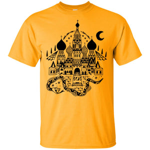 396 - Tattoos Art - Castle - Adult Unisex T-Shirt