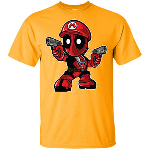 188 - RTP - Roach Graphics - Mario Deadpool-01 - Adult Unisex T-Shirt
