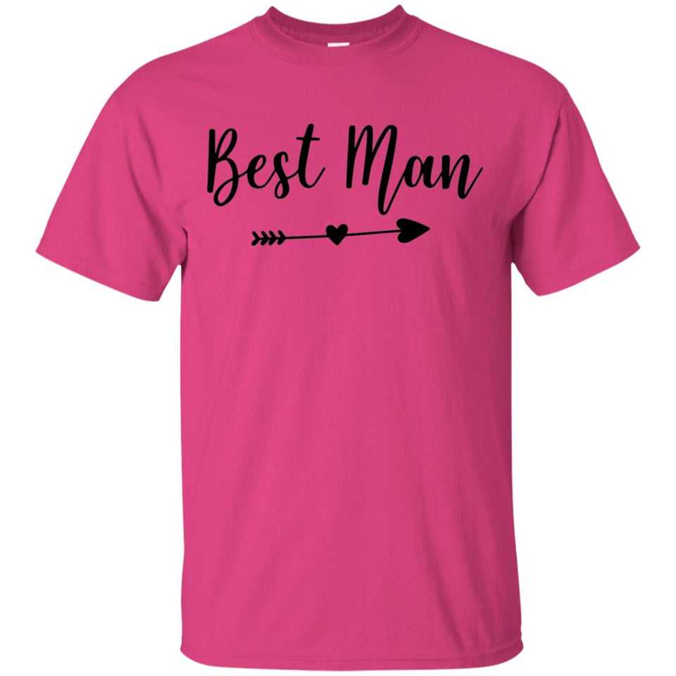 2303B - RTP - Wedding Quotes - Best-Man - Adult Unisex T-Shirt