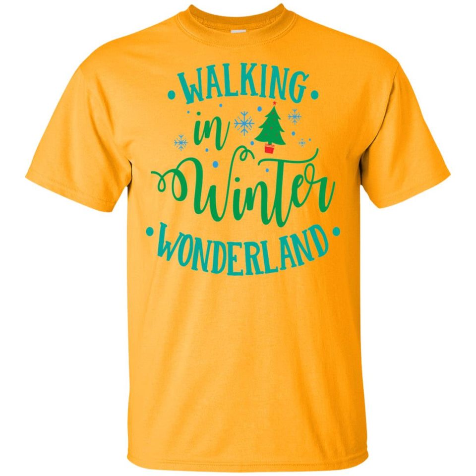 2037 - Walking In Winter Wonderland - Adult Unisex T-Shirt