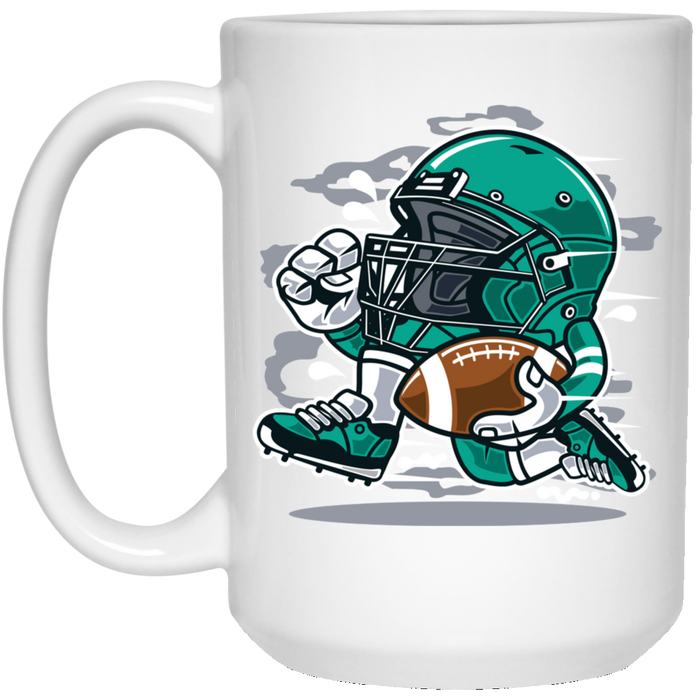 Football Player - Sports Art - 15 oz. White Mug - 148