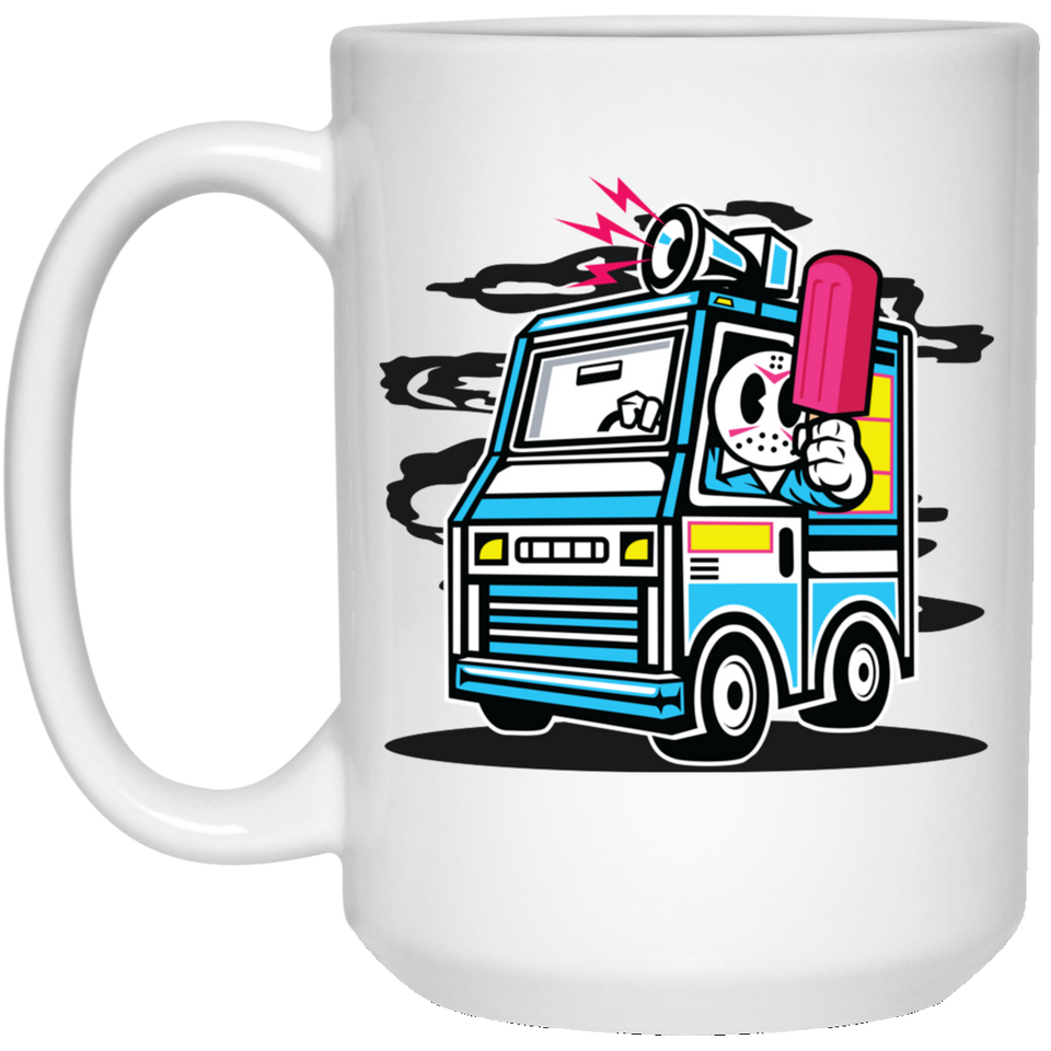 169 - RTP - Roach Graphics - Ice Cream Truck-01 - 21504 15 oz. White Mug