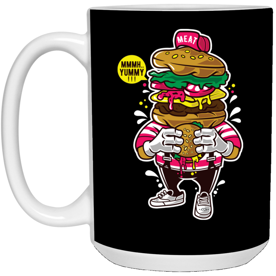 I Love Burger - Food Art - 15 oz. White Mug - 167