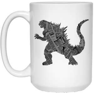 57 - RTP - Caffein Art - Kaiju - Animal Art - 21504 15 oz. White Mug