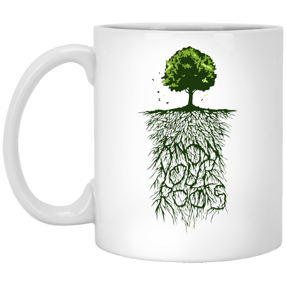 Know Your Roots - Vintage Art - 11 oz. White Mug - 58