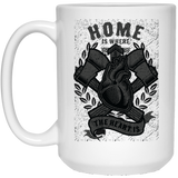 165 - RTP - Roach Graphics - Home Is Where-01 - 21504 15 oz. White Mug