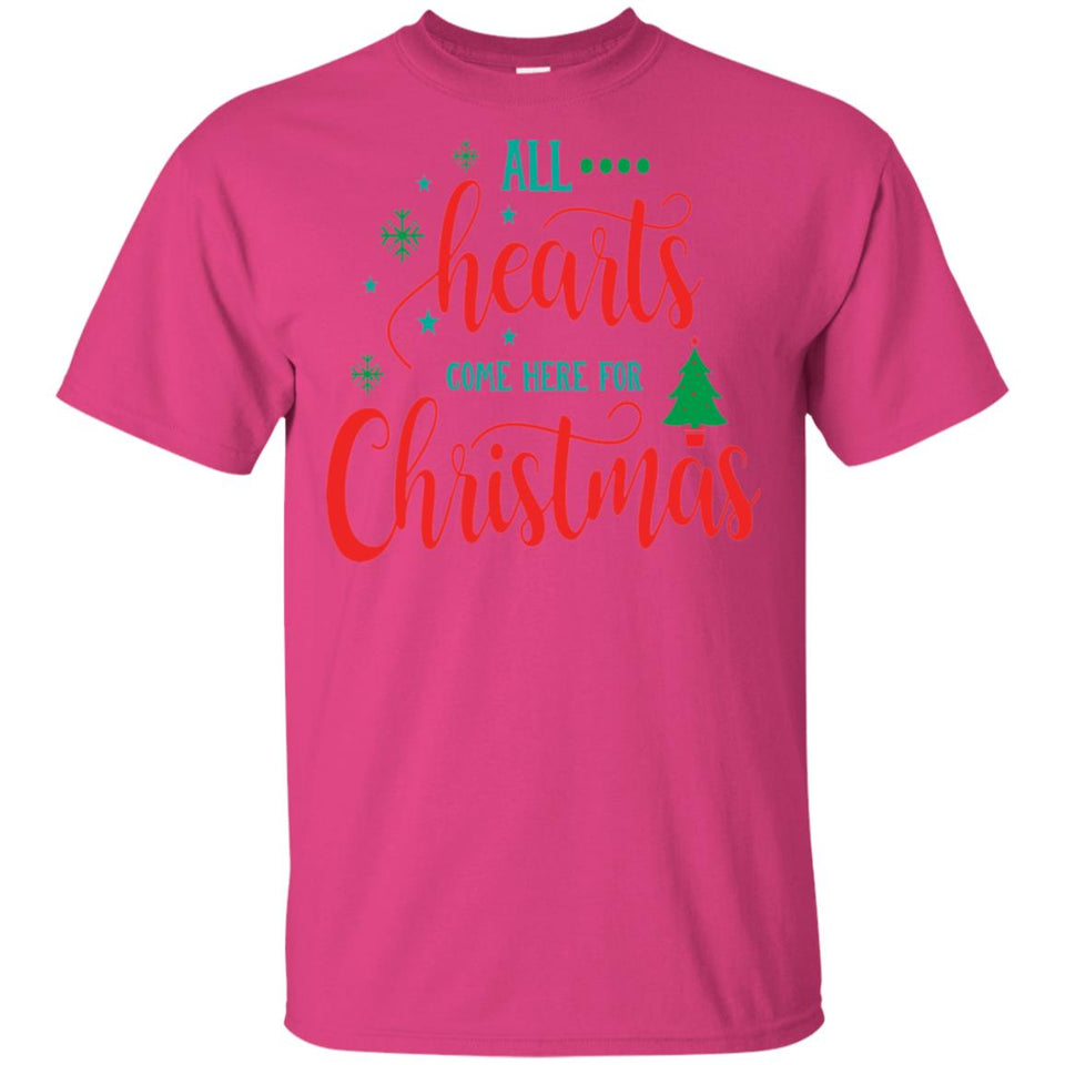 2026 - All Hearts Come Here For Christmas - Adult Unisex T-Shirt