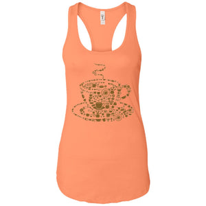 Coffee - Doodle Art - Women's Racerback Tank Top