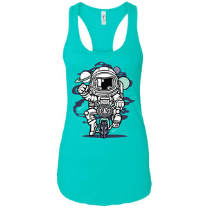 Space Bike - Astronauts Art - Women's Racerback Tank Top