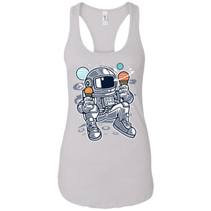 Astronaut Ice Cream - Astronauts Art - Women's Racerback Tank Top
