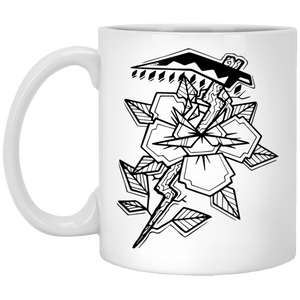 Death flower - Tattoos Art - 11 oz. White Mug - 412