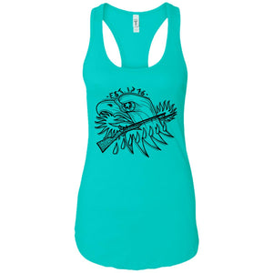 Gun 2-01 - Tattoos Art - Women's Racerback Tank Top