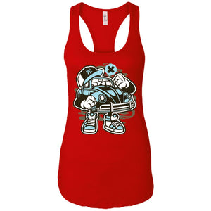 Street Beetle - Cars Art - Women's Racerback Tank Top