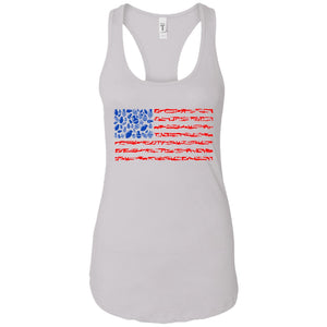 Weapon Flag - Weapons Art - Women's Racerback Tank Top