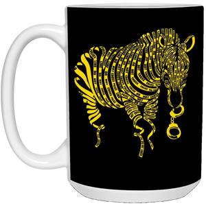 63 - RTP - Caffein Art - Nature Of Crime - Animal Art - 21504 15 oz. White Mug