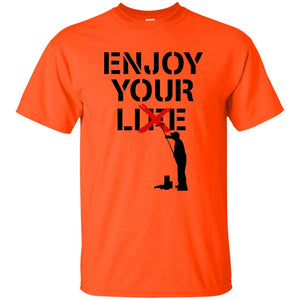 38 - RTP - Caffein Art - Enjoy Your Lie - Happy Art - Adult Unisex T-Shirt