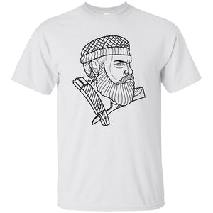 376 - Tattoos Art - Beard - Adult Unisex T-Shirt