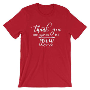 Cool Teachers' T-Shirt - Thank You For Helping Me Grow