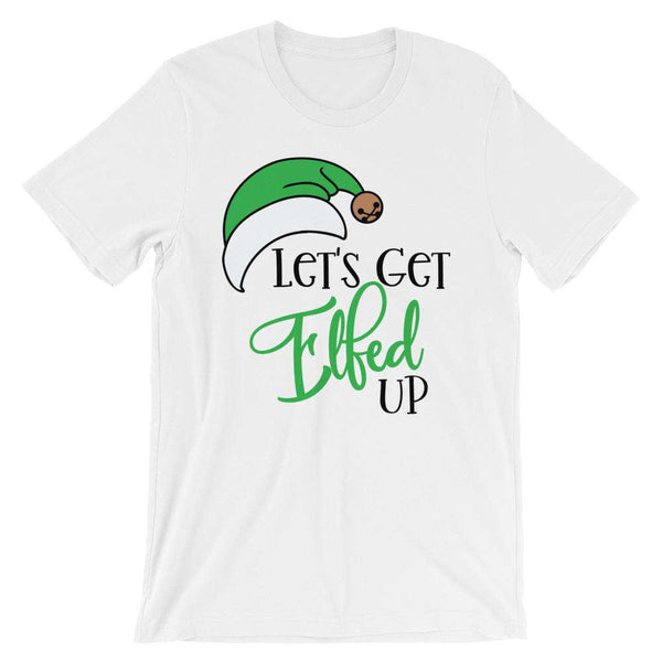 Funny Christmas T-Shirt - Let's Get Elfed Up