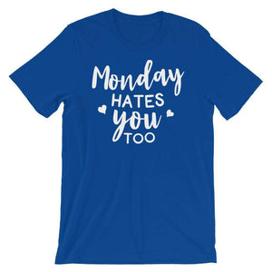 Funny T-Shirt - Monday Hate You