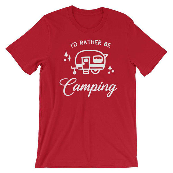 Funny Camping T-Shirt - I'd Rather Be Camping