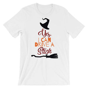 Cute Halloween T-Shirt - Yes I Can Drive A Stick