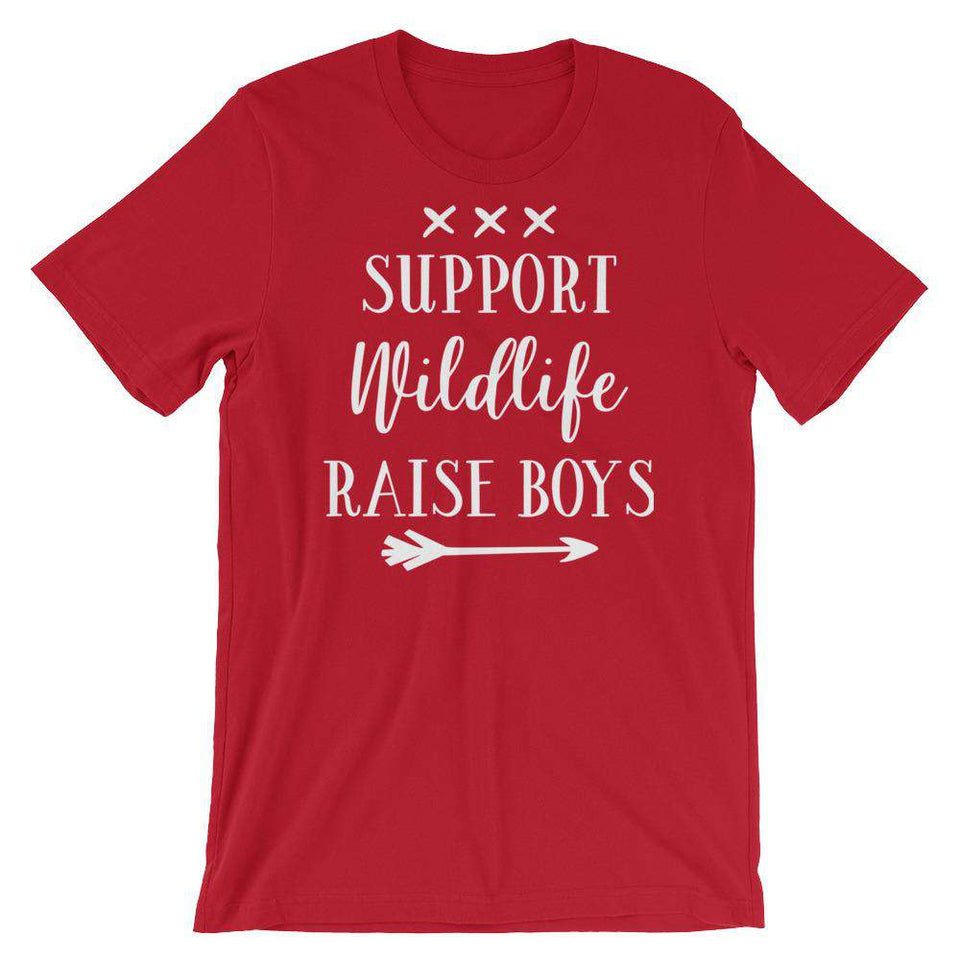 Support Wild Life, Raise Boys - Cute Mom's T-Shirt