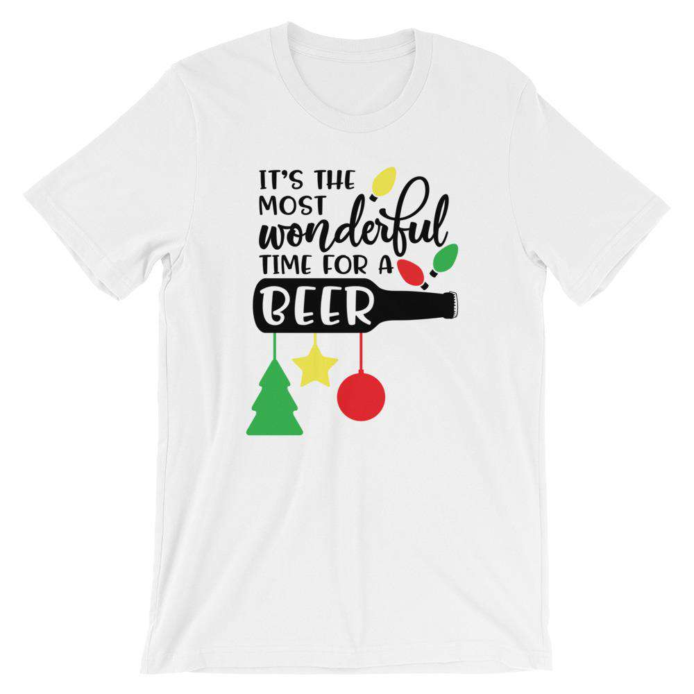 Funny Christmas T-Shirt - It's The Most Wonderful Time For A Beer