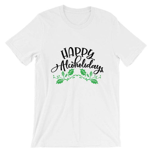 Funny Christmas T-Shirt - Happy Alcoholidays