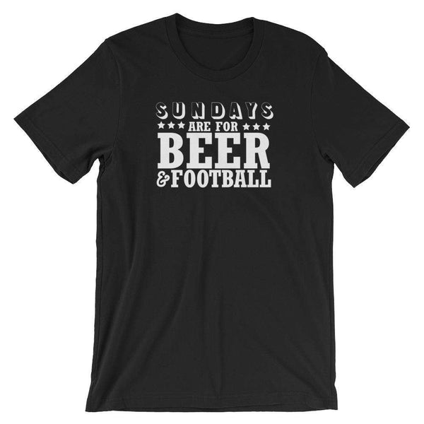 Sundays are For Beer And Football - Funny Beer T-Shirt - Adult Unisex T-Shirt