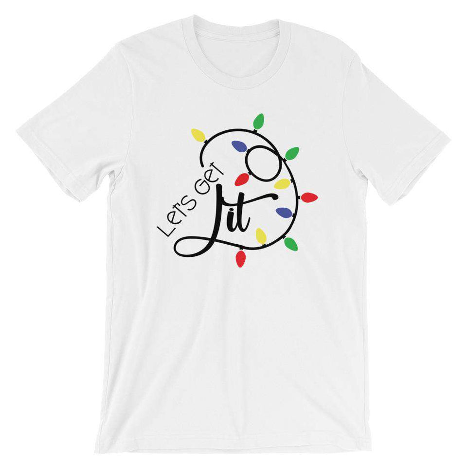 Funny Christmas T-Shirt - Lets Get Lit