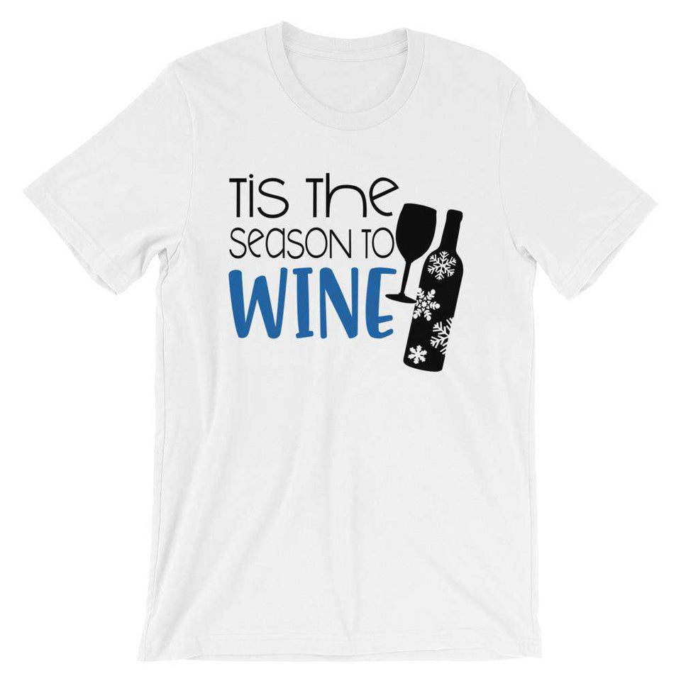 Funny Christmas T-Shirt - Tis The Season To Wine