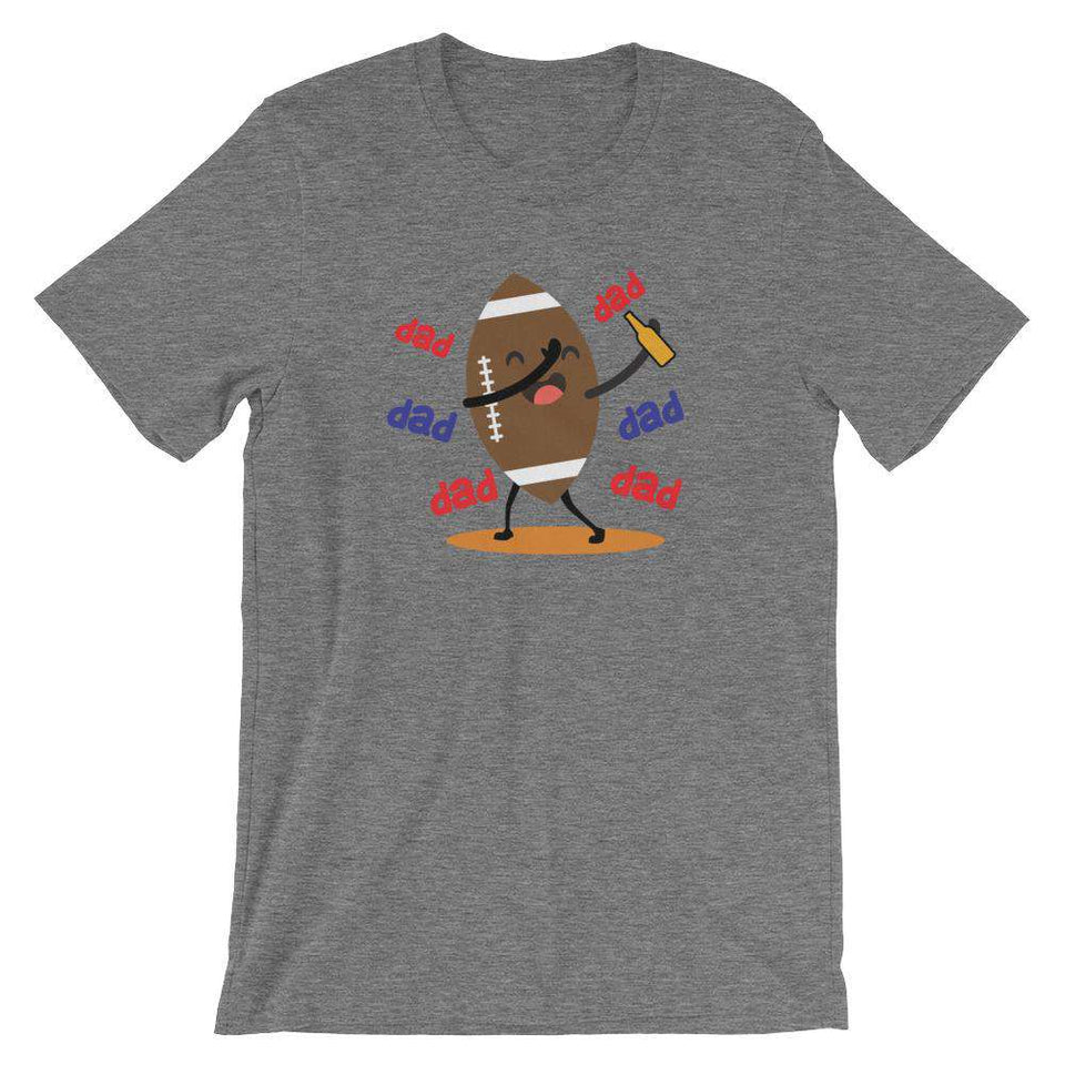 Dabbing Football - Funny Beer T-Shirt - Adult Unisex T-Shirt
