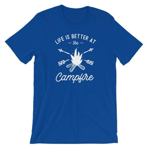 Life Is Better At The Campfire - Camping T-Shirt - Adult Unisex T-Shirt