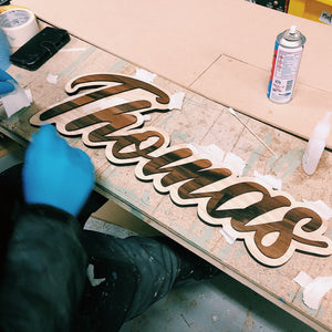Custom Script Name Sign
