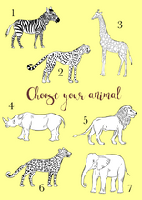 Safari Wall Hanging - Choose your animal!