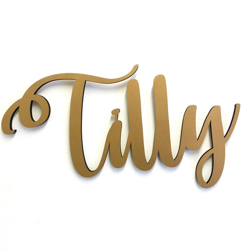 Custom Name Sign - Gold MDF