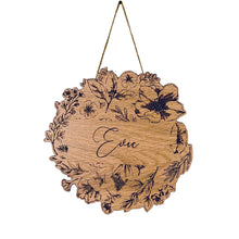 Personalised Floral Wall Hanging - Circle