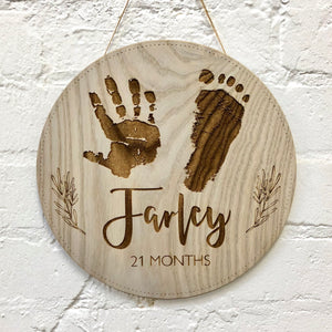 Child's Print with Name & Age Wall Hanging