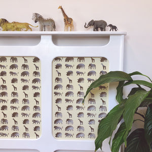 Custom Radiator Covers for Children's Nurseries - Made to Measure Nursery Decor Safari
