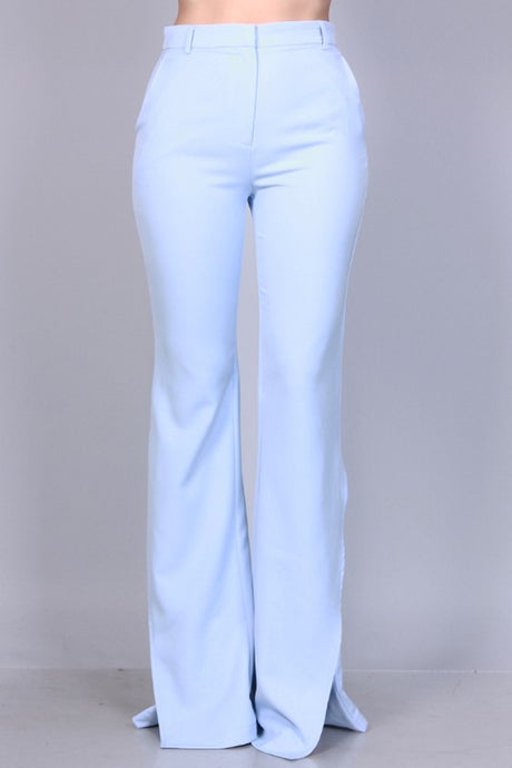 High Waist Bell Bottom Pants - ClosetSheIn