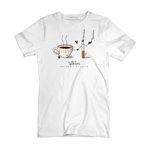 T Shirt uomo - Caffè & Sigaretta - With Love