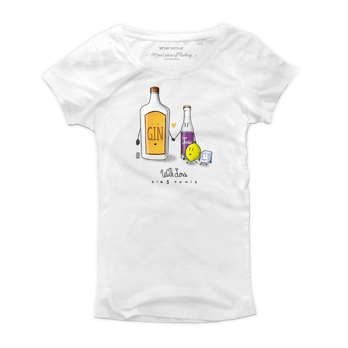 T Shirt donna - Gin & Tonic - With Love