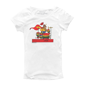 T Shirt donna - Drum di coppe - Il Gioco del Rock